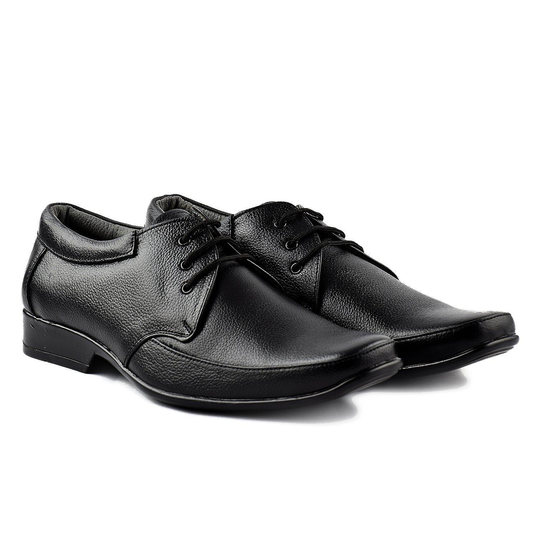 Buy Leathersofty Men Black Leather