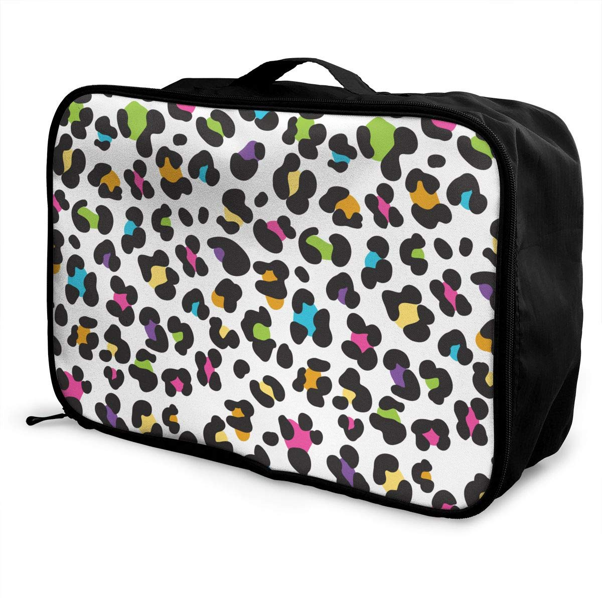 YueLJB Colorful Cheetah Leopard Print Lightweight Large Capacity Portable Luggage Bag Travel Duffel Bag Storage Carry Luggage Duffle Tote Bag