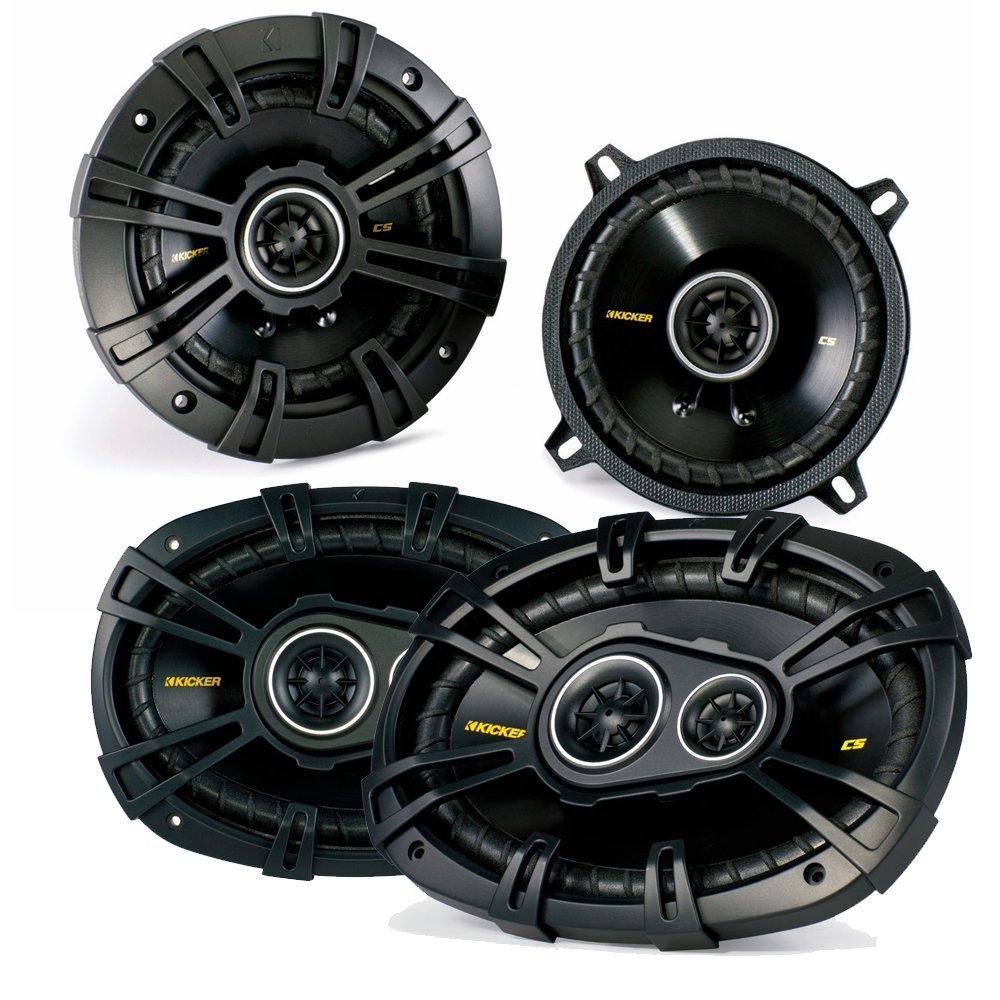 Kicker Dodge Ram Truck 1994-2011 speaker bundle - CS 6x9'' coaxial speakers, and CS 5.25'' coaxial speakers.