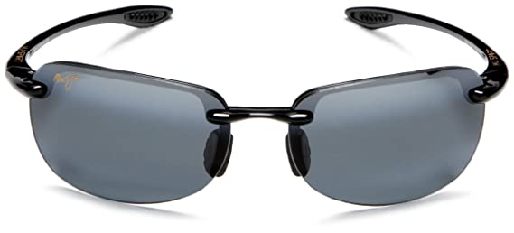 Maui Jim Sandy Beach Gloss Black/Neutral Grey Sunglasses (MJ-Sandy Beach-408-02-56) E7VTGf