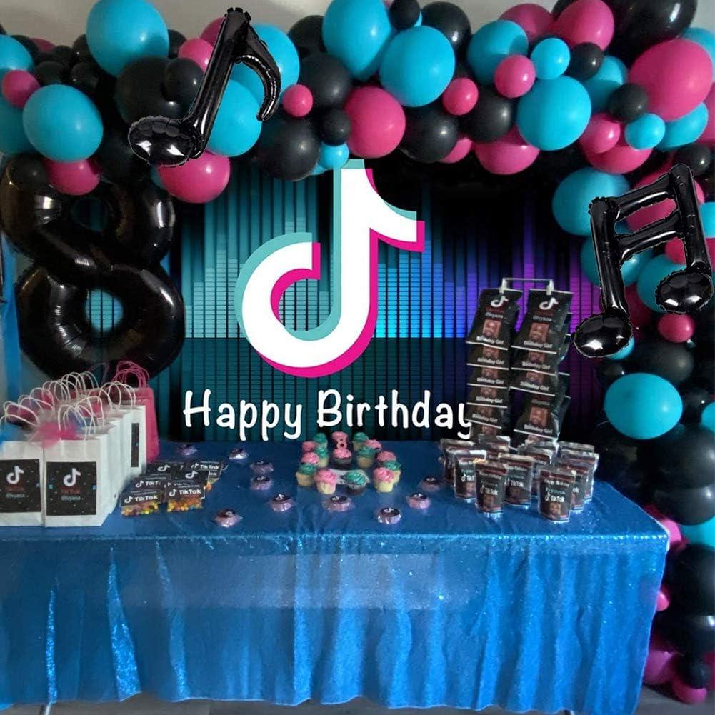 BAIBEI Tik TOK Backdrop Photo Background,Music Photo Stuido Booth 3X5FT Tik Tok Birthday Party Decorations