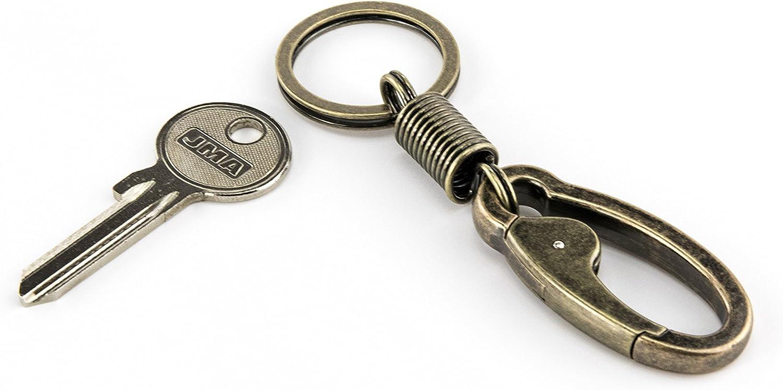 colore: oro antico TROIKA in metallo pressofuso Portachiavi a forma moschettone