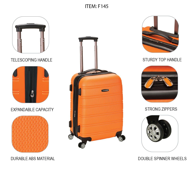 Orange Rockland Set de Bagage - F145-ORANGE Orange