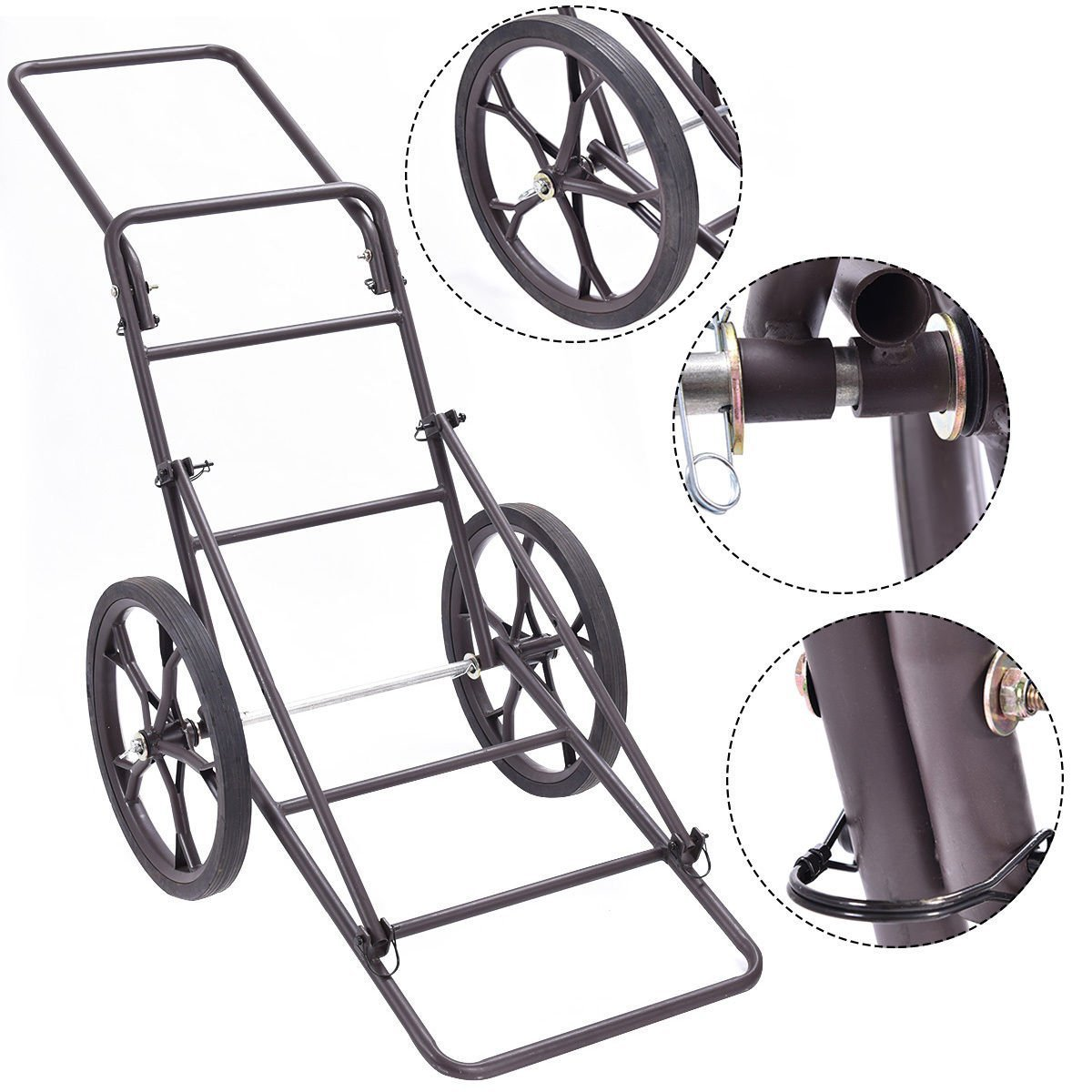 Goplus Folding Deer Game Cart Larger Capacity 500lbs Hauler Utility Gear Dolly Cart Hunting Accessories by Goplus (Image #2)