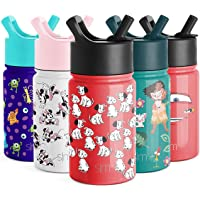 Simple Modern Disney Water Bottle for Kids Reusable Cup with Straw Sippy Lid Insulated Stainless Steel Thermos Tumbler…