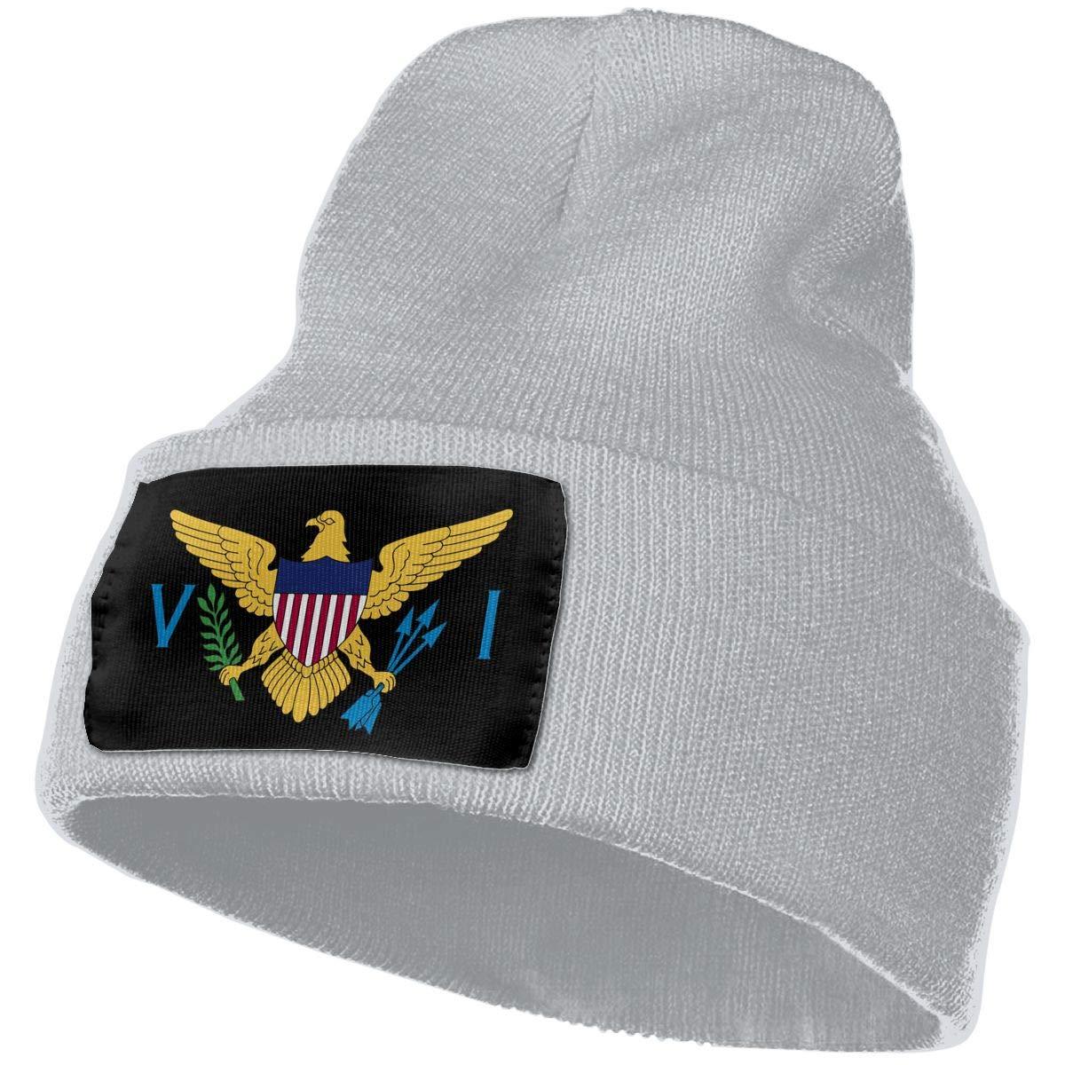 COLLJL-8 Unisex US Virgin Islands Flag Outdoor Stretch Knit Beanies Hat Soft Winter Knit Caps