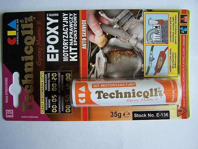 Masilla epoxi para metales (acero aluminio) madera plástica de 35 ...