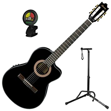 Ibanez ga35cebkn Nylon Cuerdas Clásica Acústica Guitarra eléctrica ...