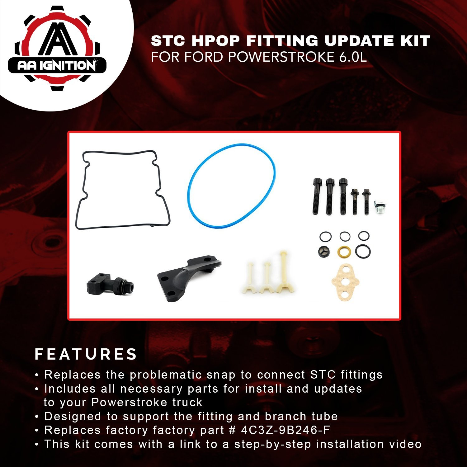 6 0l Powerstroke Stc Hpop Fitting Update Kit For Ford F250 F350