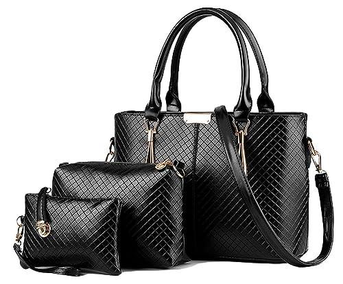 Amazon.com  King Ma 3 Piece Tote Bag Handbag Purse Bags Set for Womens  Girls and Ladies  Shoes 530aec6098b3f