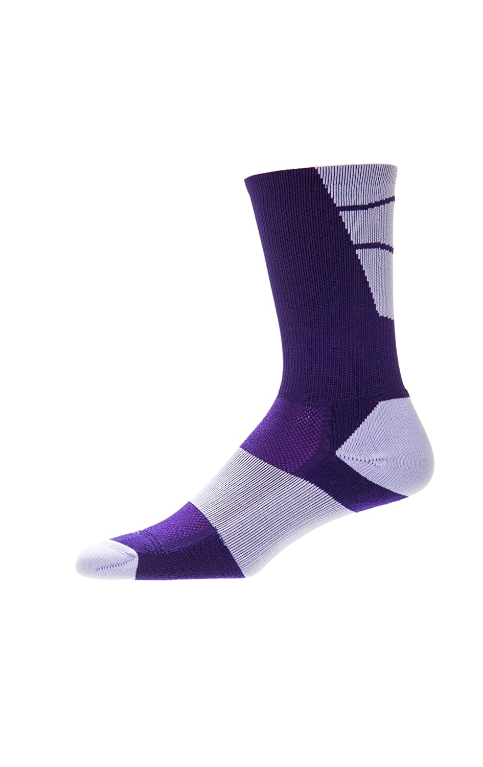 CSI Point Guard Performance Crew Socks Made In The USA Purple/White 6MAN10021