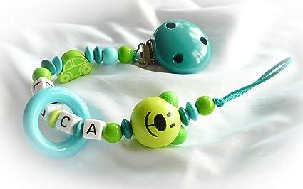 Baby Chupete Cadena con nombres - Teddy, oso, Auto, grabado ...