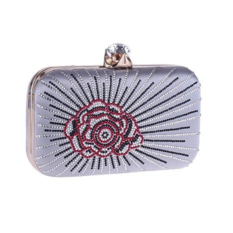 e5d78144c38a Amazon.com: Clutch Bag Women's Evening Bag Clutch Hard Box Small ...
