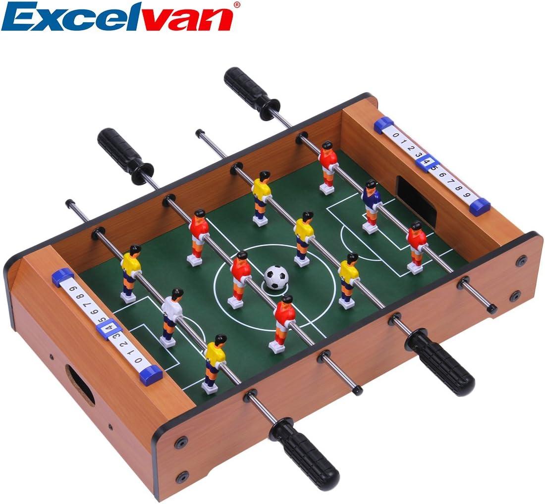 EXCELVAN - Mini Futbolín sobre Mesa (Jueguete de Fútbol, Bajo ...