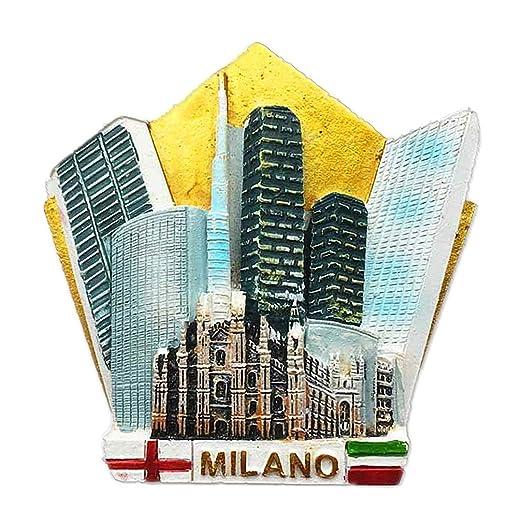 Hqiyaols Souvenir Milano Milan Italia Italia Refrigerador 3D Imán ...