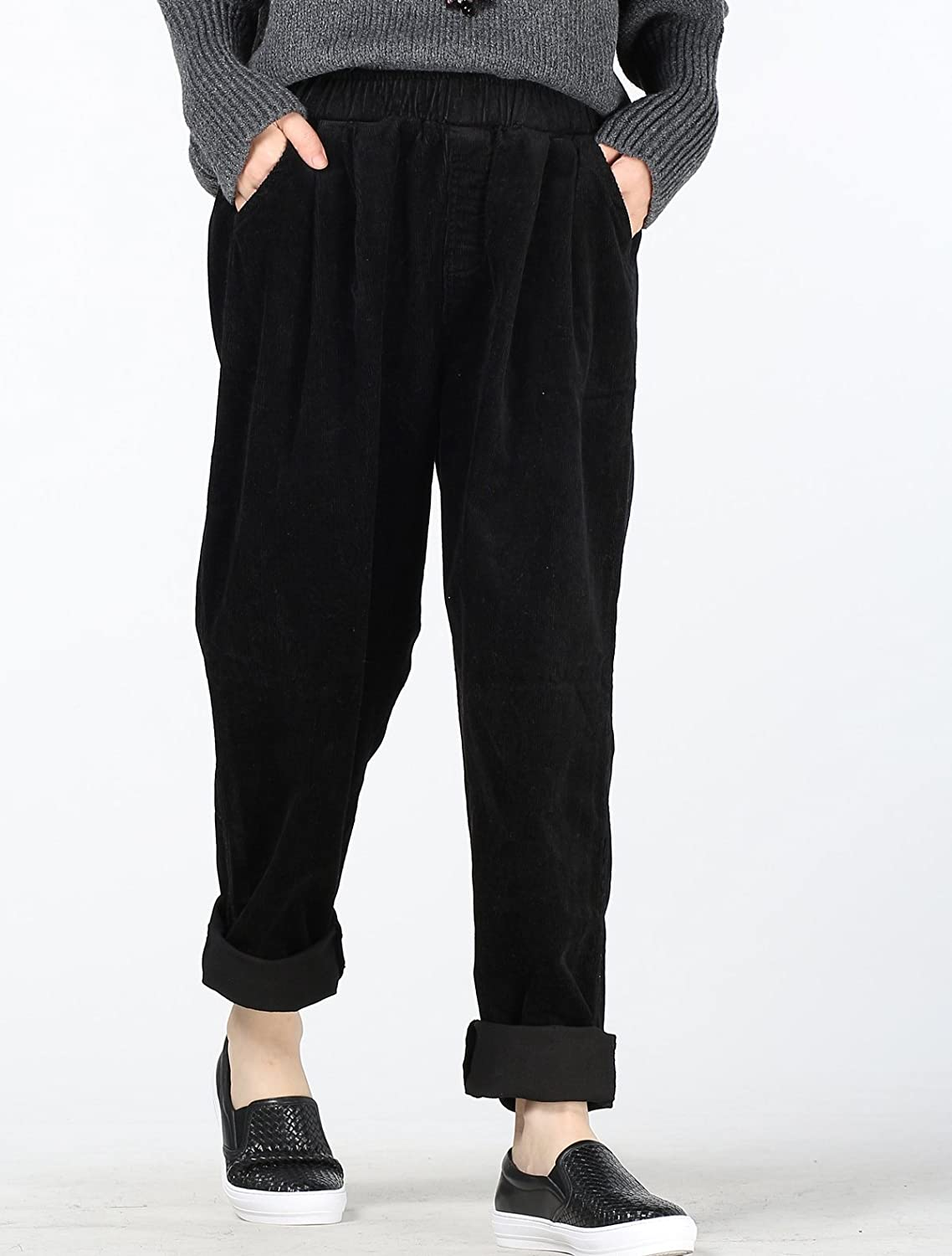 c7f353db120ab Vogstyle Women s Autumn Winter Casual Corduroy Pants with Pockets   Amazon.co.uk  Clothing