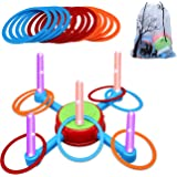 LOFUKI Ring Toss Outdoor Games for Kids,Toys for 3 4 5 6 7 8 Year Old Boys Girls Lawn Backyard Games,Indoor Family Party…