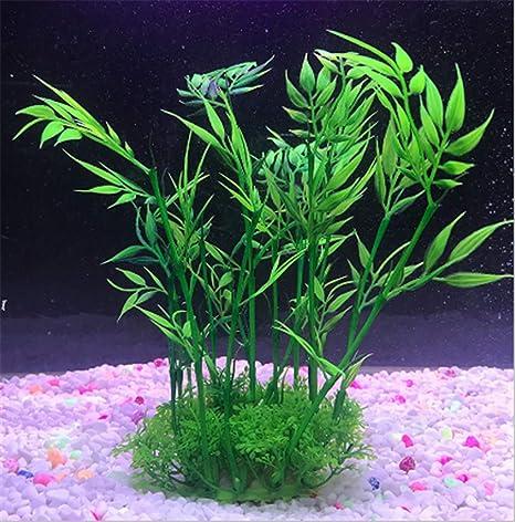 Teydhao Aquarium Decorations Fish Tank Artificial Aquarium Plants Realistic Large Kelp Artificial Green Water Plants Made Of Silk Fabrics Plastic