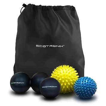Juego de pelotas de masaje ECOTRONIK - Juego de 2 pelotas con pinchos, 1 Pelota