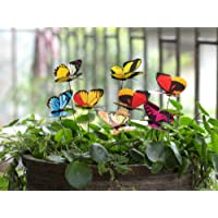 Ginsco 25Pcs Butterfly Stakes Outdoor Yard Planter Flower Pot Bed Garden Decor Butterflies Christmas Decorations