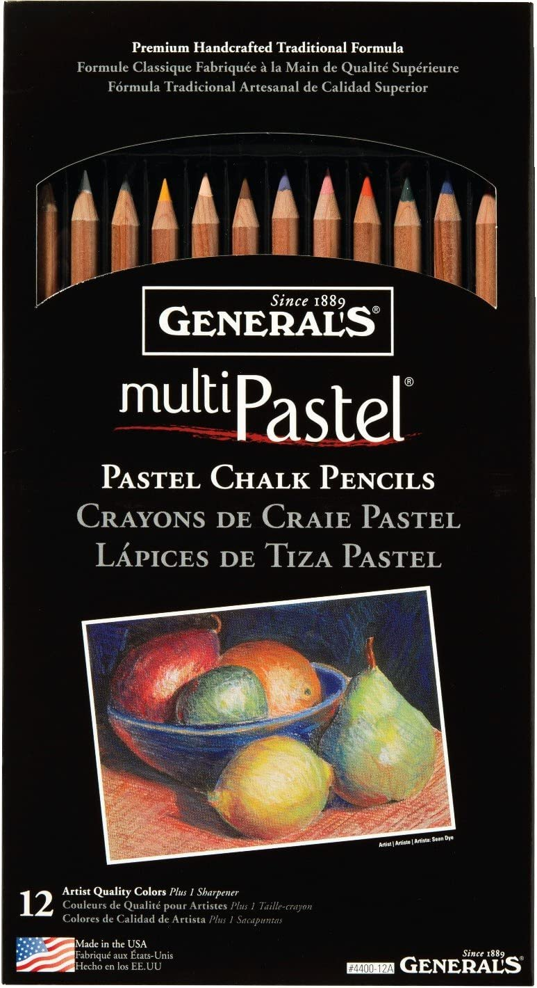 Portr... General Pencil Various MultiPastel Compressed Chalk Sticks 12 kg Earth