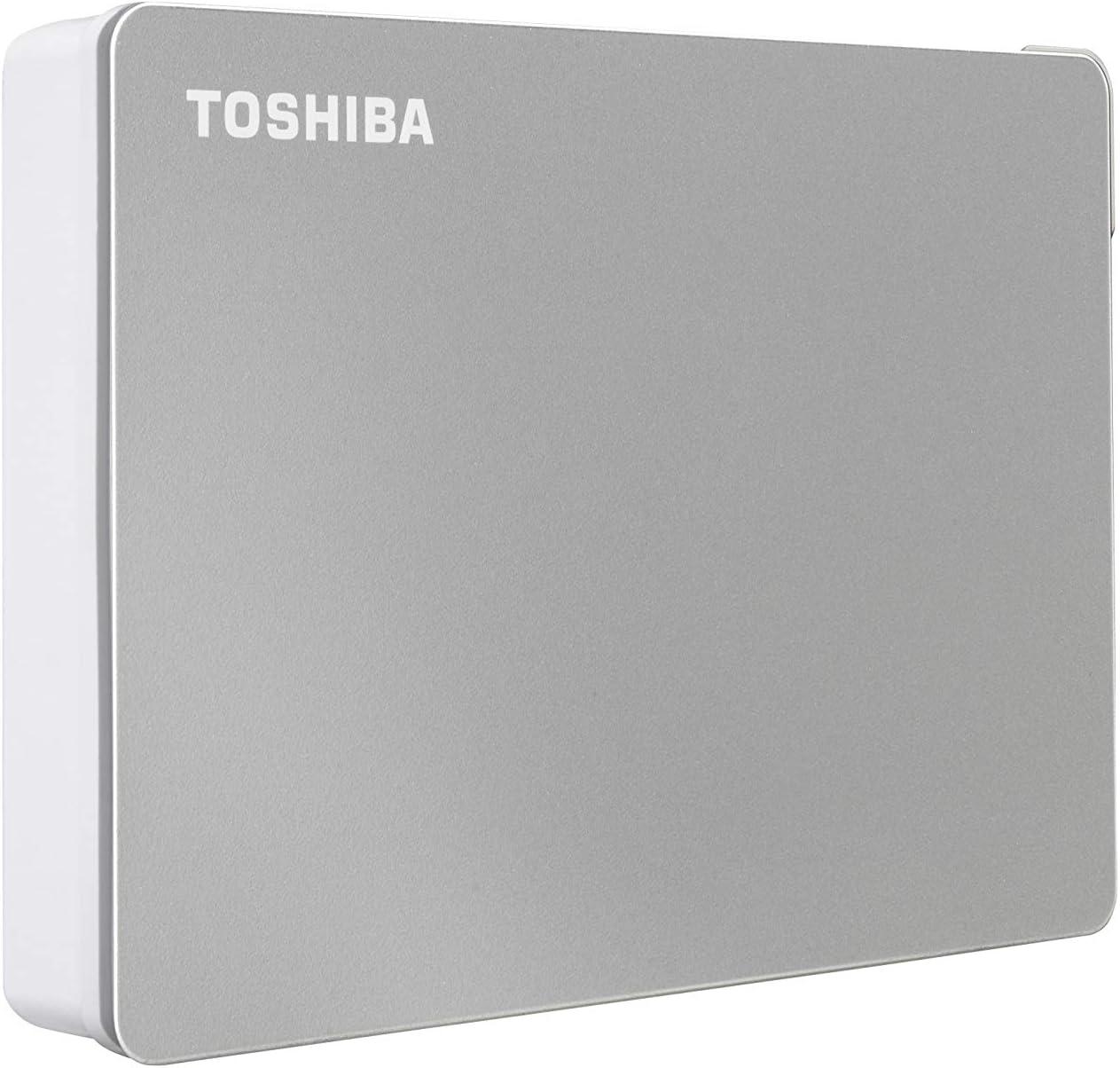 Toshiba Canvio Flex 4TB Portable External Hard Drive USB-C USB 3.0, Silver for PC, Mac, Tablet - HDTX140XSCCA