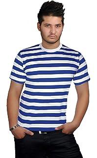 43ecf30d4119f9 Mens Blue and White Stripe Womens Book Week Boys Girls Kids Striped Tshirt  Fancy Top Short