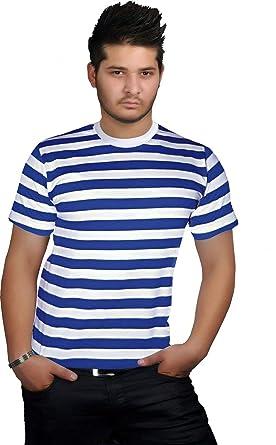 0cc6b6f8a Mens Red Blue Black White Stripe Womens Book Week Boys Girls Kids Striped  Tshirt Fancy Top Short Sleeve Casual Wear Tee: Amazon.co.uk: Clothing