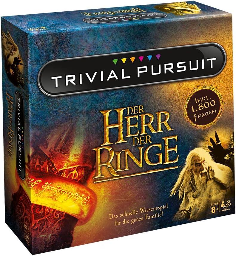 Winning Moves El Señor de los Anillos Búsqueda Trivial Edición de coleccionista Preguntas 1800 Preguntas 2-6 Jugadores: Amazon.es: Juguetes y juegos