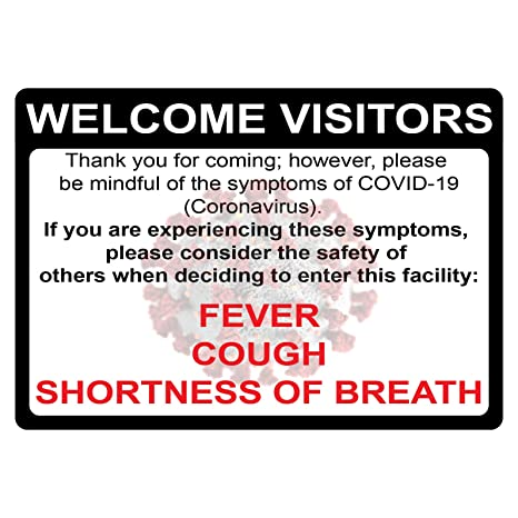 Virus Illness List Symptoms Notice Sign Directive Poster Graphic Do Not Enter