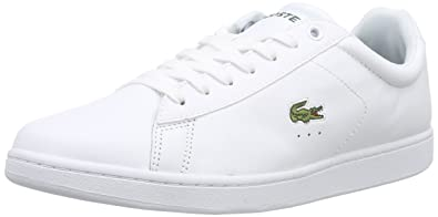 b347985f85 Lacoste Carnaby Evo LCR, Baskets Basses Homme, White (001-white), 43 ...