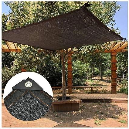 ZhHOME 85% Paño De Sombra Tela De Protección Solar Negra Red De Sombra con Cuerda Resistente A Los Rayos UV para Patio Pérgola Dosel Jardín Flor Planta Invernadero Sombreado Granero Perrera Cubiertas: