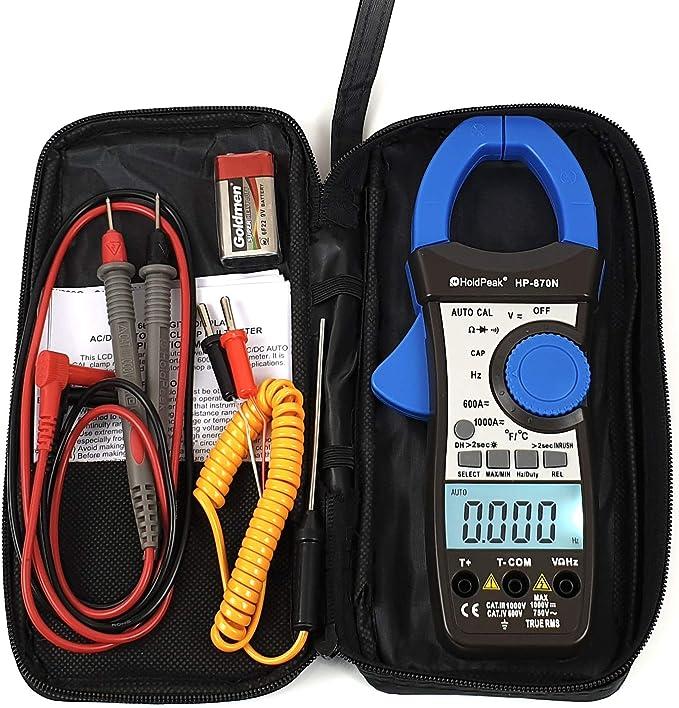 Holdpeak Hp 870n Ac Dc Stromzange Zangen Multimeter Amperemeter Truerms Gleichstromzange Digital Baumarkt