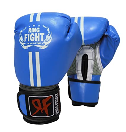 Ring Fight Pro Boxing Gloves (Blue) Boxing Training Gloves at amazon