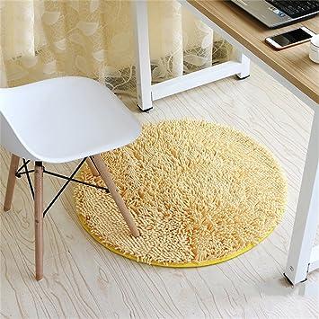 Amazon De Creme Farbe Mode Runden Teppich Schlafzimmer Wohnzimmer