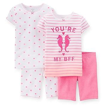 2d4c41f3f711 Amazon.com  Carters Baby Girls 4-Piece Snug Fit Cotton PJs You re My ...