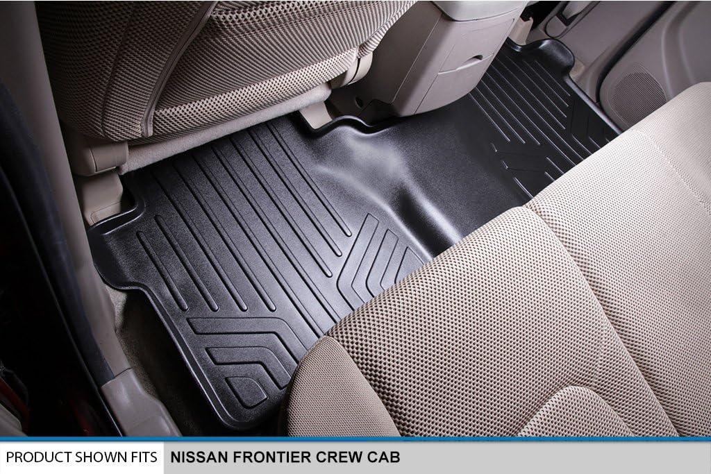 MAXLINER B0121 Floor Mats for Nissan Frontier Crew Cab Black 2005-2016 2nd Row