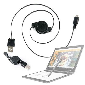 DURAGADGET Cable MicroUSB Retráctil para Portátil Lenovo ...