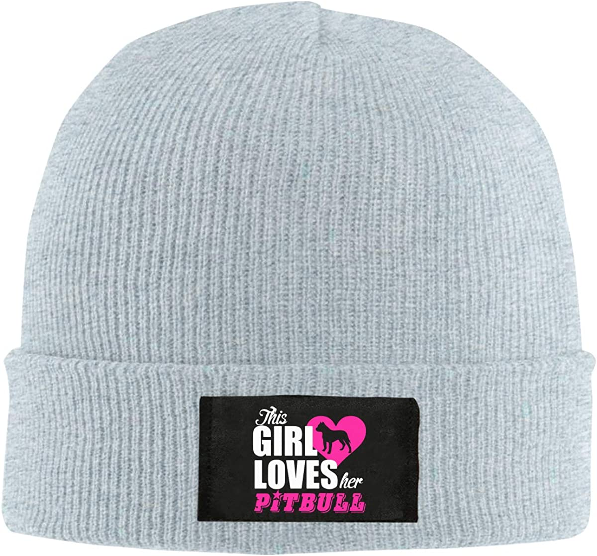 This Girl Loves Her Pitbull1 Women and Men Knitted Hat Comfortable Skull Cap