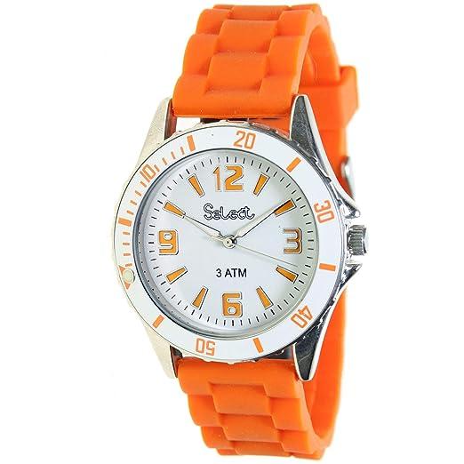 Select Lw-50 Reloj Analogico para Mujer Caja De Metal Esfera Color Blanco: Amazon.es: Relojes