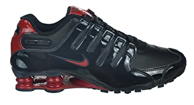 new concept e8a6b 18519 Amazon.com | Nike Shox NZ Men's Shoes Black/Gym Red Black ...