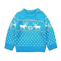 YUYOUG Bébé Garçons Fille À Manches Longues Cartoon De Noël Tricoté Tops Sweater Vêtements Pull