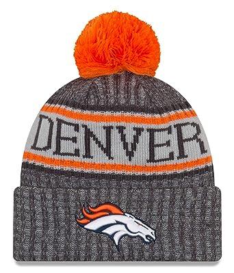size 40 852f6 7220f New Era Denver Broncos Beanie NFL 2018 Sideline Sport Graphite Knit  Orange Grey - One-Size  Amazon.de  Bekleidung