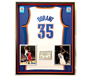 7f2f41c76 Image Unavailable. Image not available for. Color  Premium Framed Kevin  Durant Autographed Signed Oklahoma City Thunder Official Adidas Jersey - JSA  Sticker