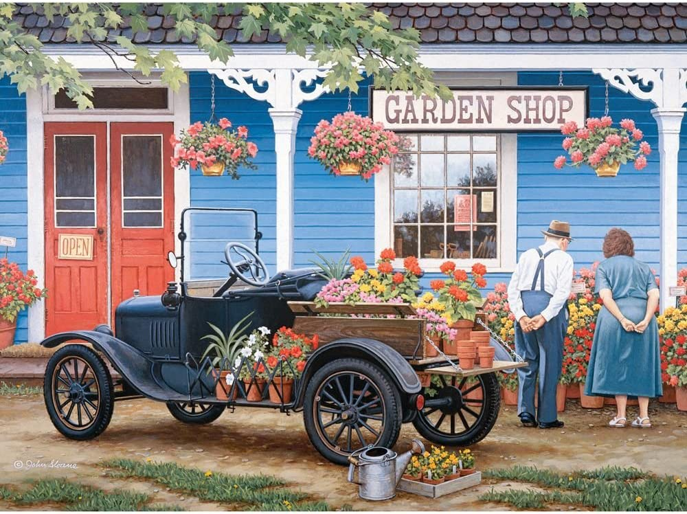 Bits and Pieces - 1000 Piece Jigsaw Puzzle for Adults - Just One More - 1000 pc Garden Shop Jigsaw by Artist John Sloane
