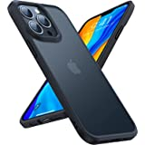 TORRAS Shockproof Compatible for iPhone 13 Pro Case, [Military-Grade Drop Tested] Translucent Matte Hard PC Back with Soft Si