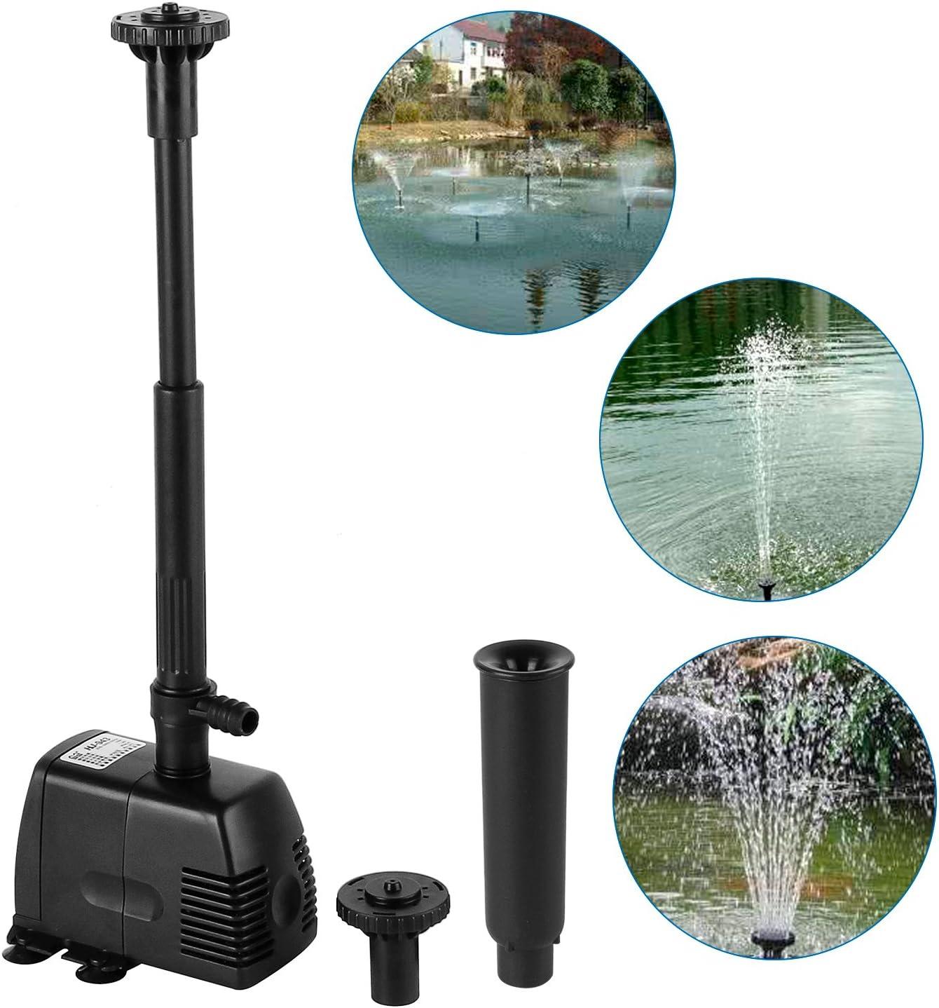 22W 1000L//h Springbrunnenpumpe Teichpumpe Fontäne Wasserspielpumpe Gartenpumpe