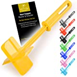 Premium Heat Resistant Meat Chopper, Masher & Smasher for Hamburger Meat, Ground Beef, Turkey & More, Hamburger Chopper Utensil, Ground Beef Chopper Tool & Meat Fork - by Zulay Kitchen (Yellow)
