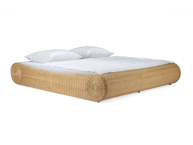 massivum Bett Ronda 180x200cm Rattan braun lackiert: Amazon.de ...