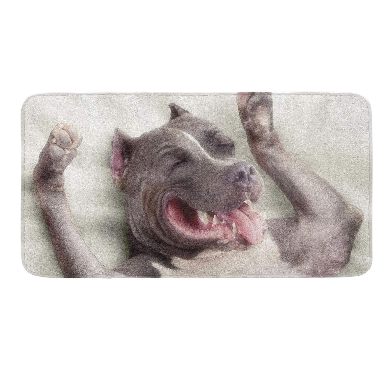 CIGOCI Non-Slip Memory Foam Bath Rugs, 3D Print Cute Dog - 18 x 36 Inch, Extra Absorbent,Soft,Duarable and Quick-Dry Shaggy Rugs